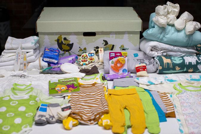 Finnish Babies Sleep Happily In Cardboard Cribs